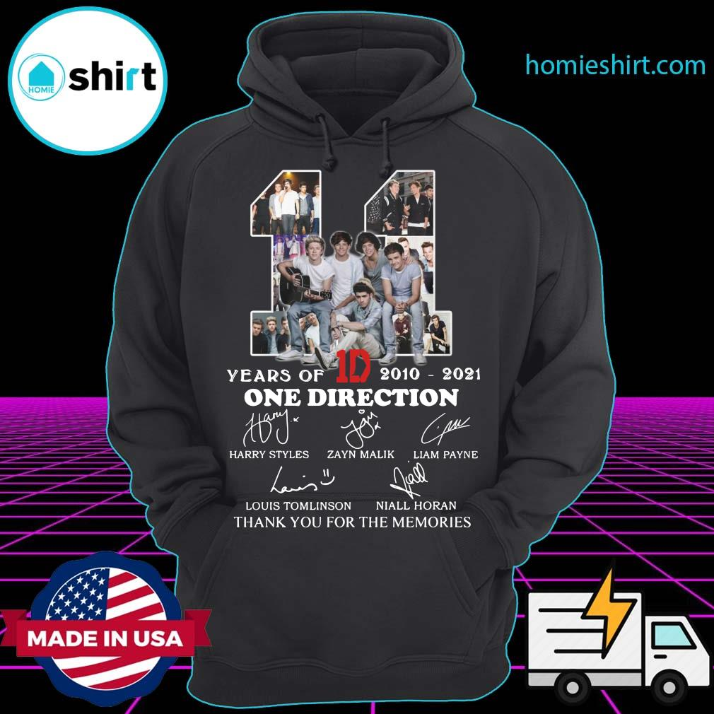 11 Years Of 1D One Direction 2021 2021 Signatures Thanks For The Memories Shirt Hoodie