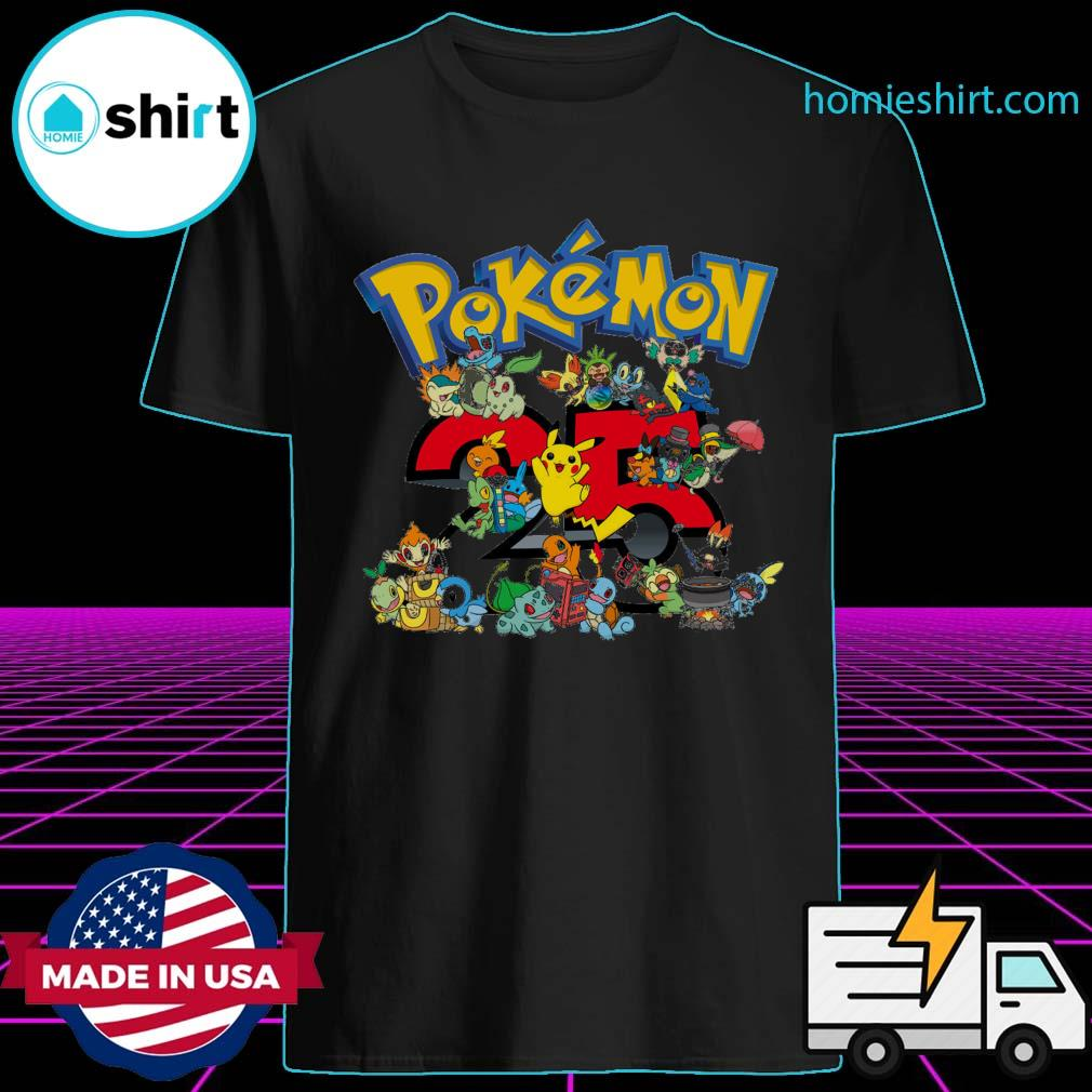 25 years of Pokémon shirt