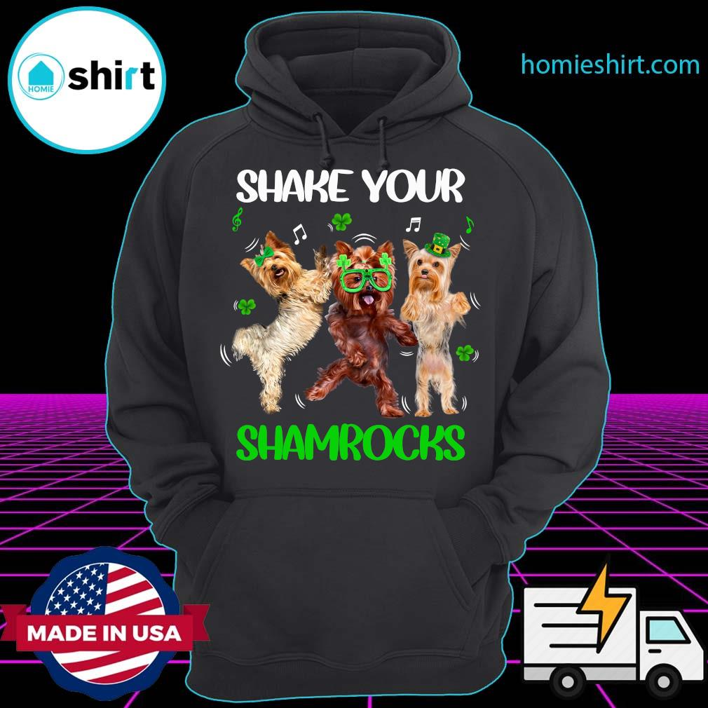Doodle Dogs Shake Your Shamrocks Happy St Patrick's Day Shirt Hoodie