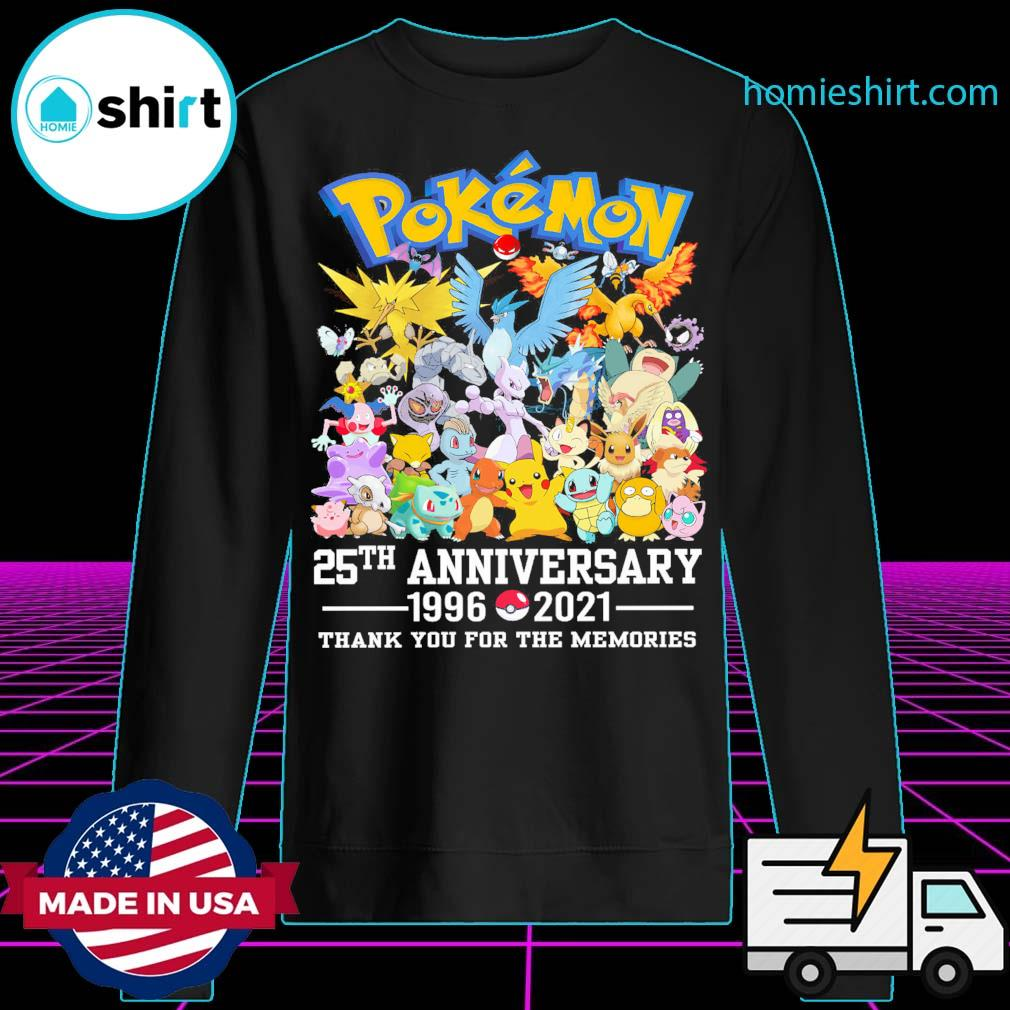 Pokémon 25th anniversary 1996 2021 thank you for the memories s Sweater