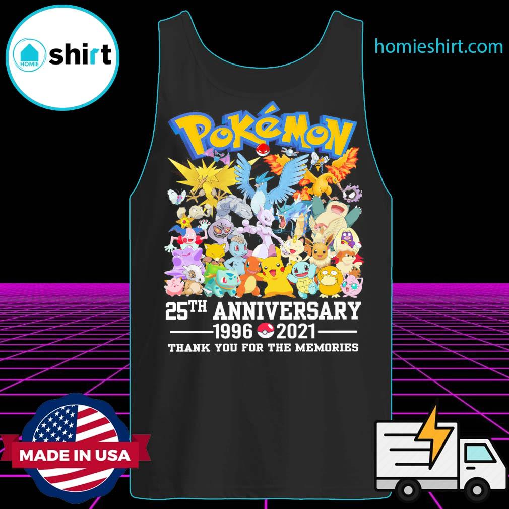 Pokémon 25th anniversary 1996 2021 thank you for the memories s Tank-Top
