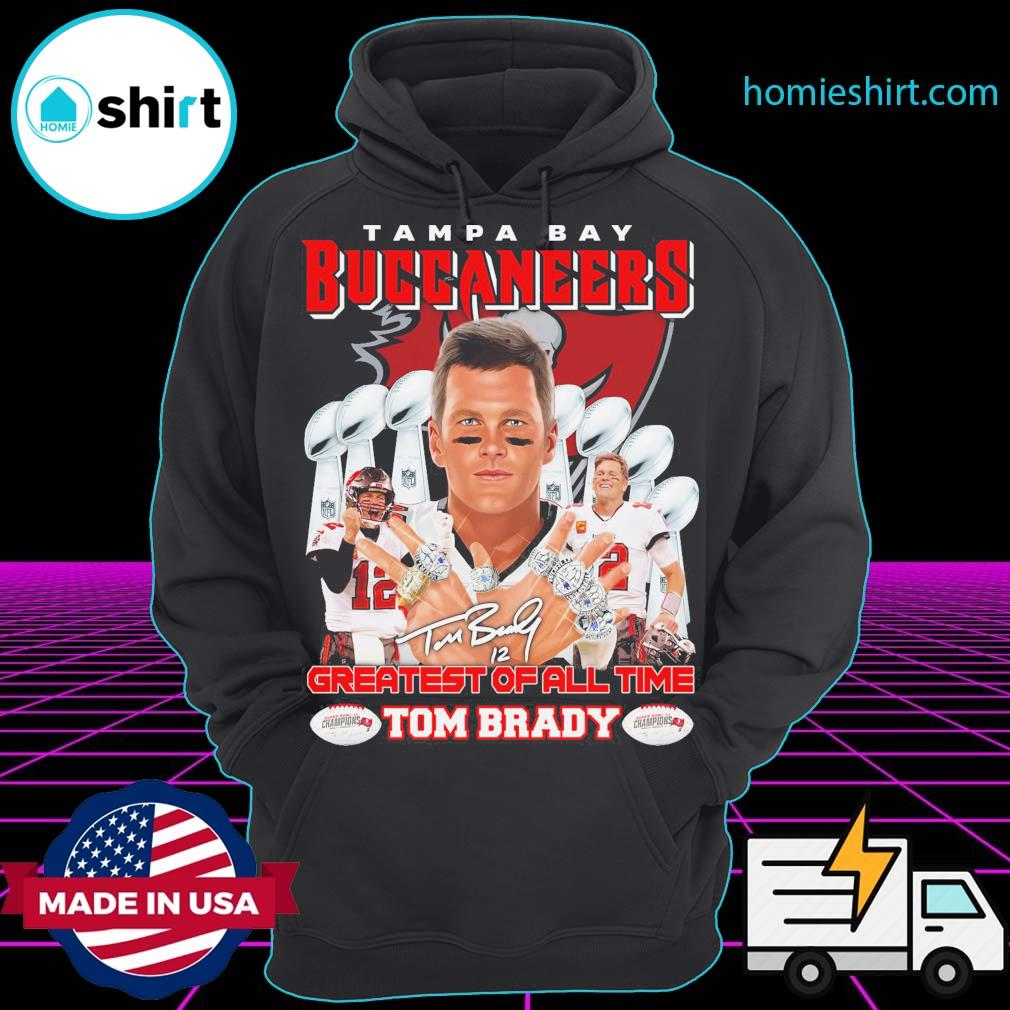 Tampa Bay Buccaneers 12 Tom Brady Greatest of all time s Hoodie