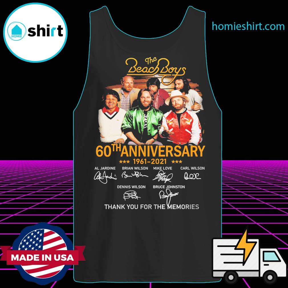 The Beach Boys 60th anniversary 1961 2021 signatures thank you for the memories s Tank-Top