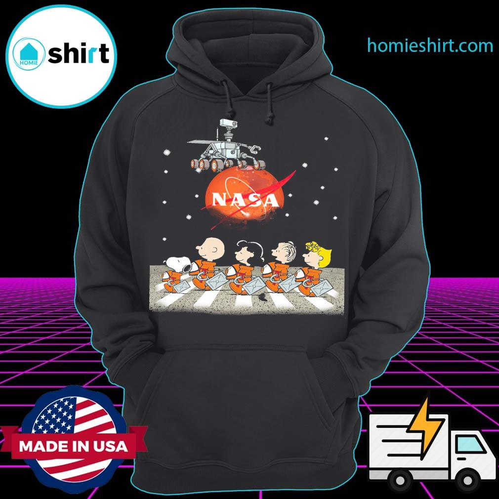 The Peanuts Walking on the Moon Nasa s Hoodie