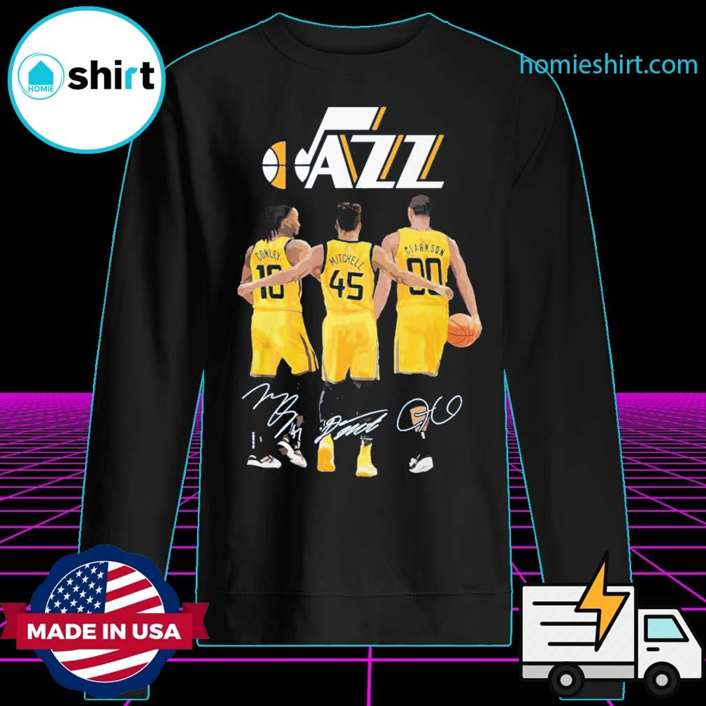 Utah Jazz Conley Mitchell Clarkson signatures s Sweater