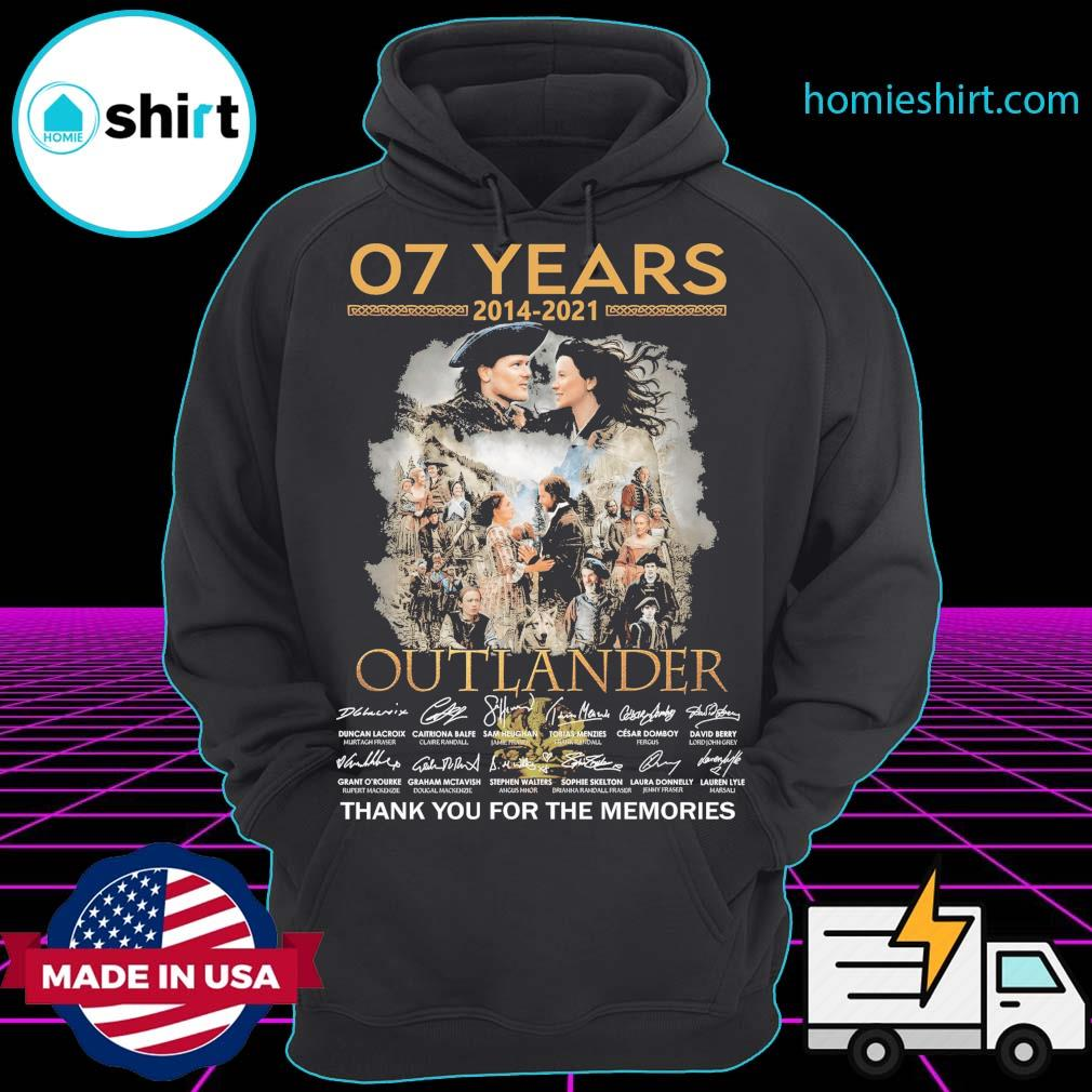 07 years 2014 2021 Outlander signatures thank you for the memories Hoodie