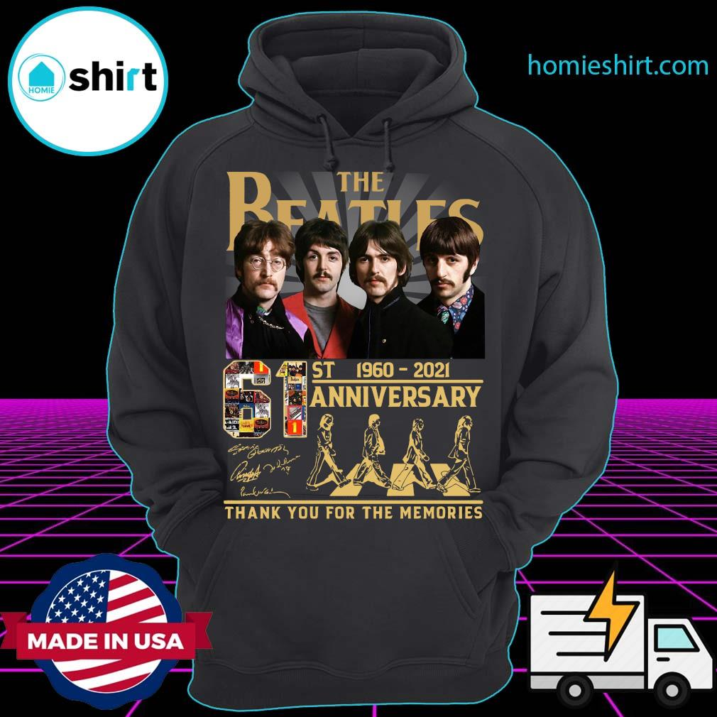Official Thank You For The Memories The Beatles Abbey Road 61st Anniversary 1960 2021 Signatures Shirt Hoodie