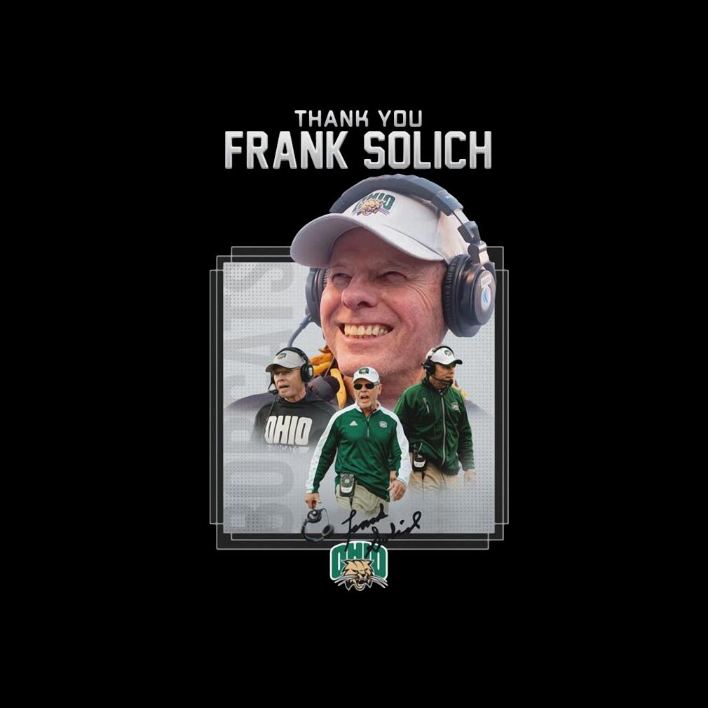 Ohio thank You Frank Solich Signature Shirt invisible