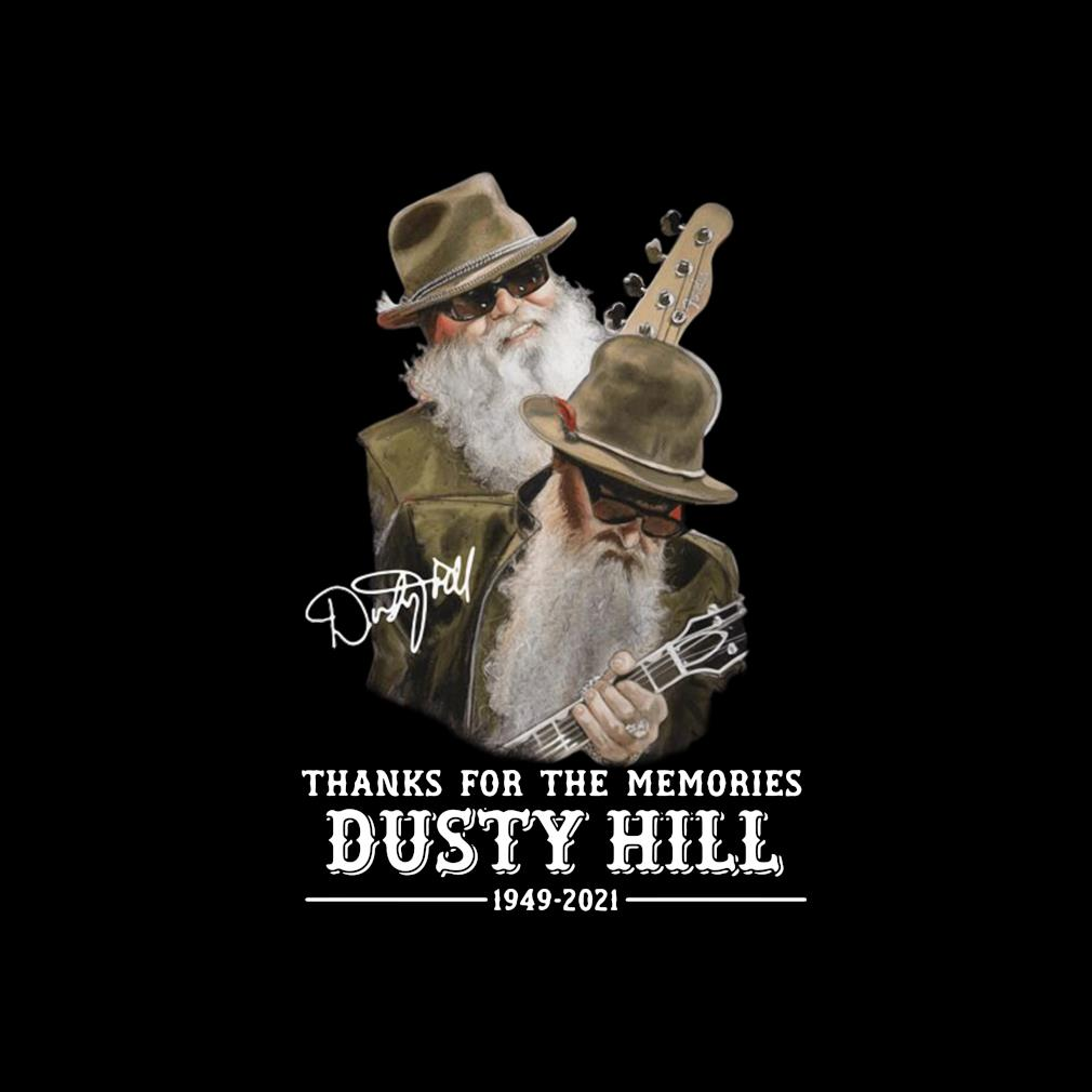 Thank you for the memories Dusty Hill 1949-2021 signature s invisible