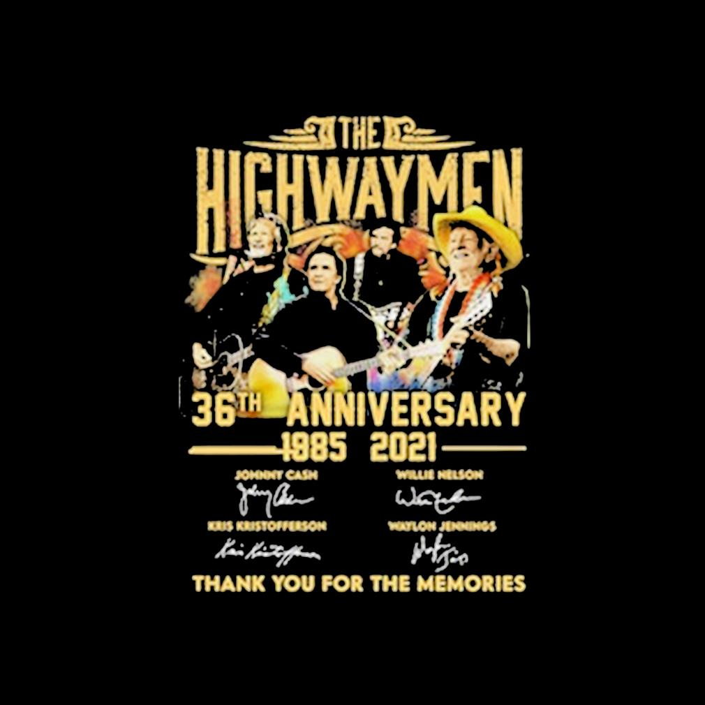 The Highwaymen 36th anniversary 1985-2021 thank you for the memories signatures s invisible