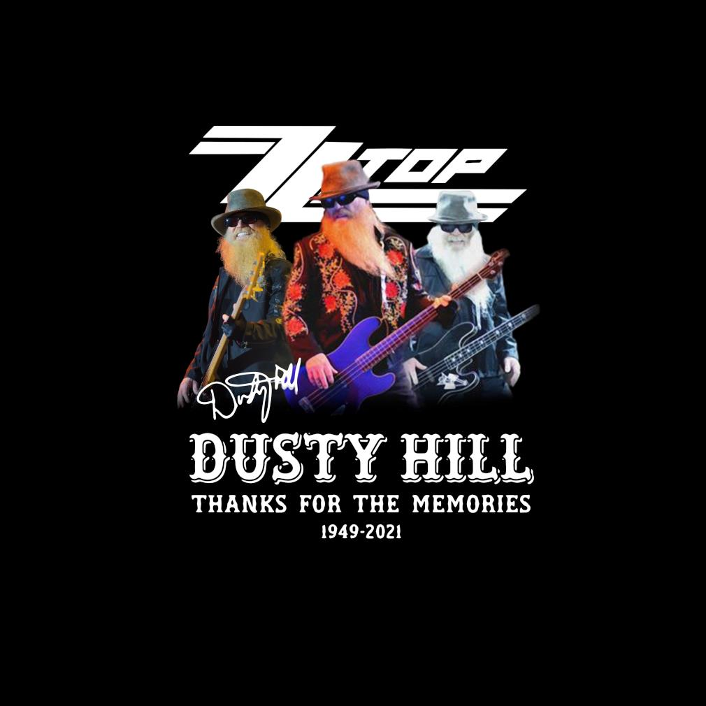 ZZ Top Dusty Hill 1949-2021 thank you for the memories signature s invisible