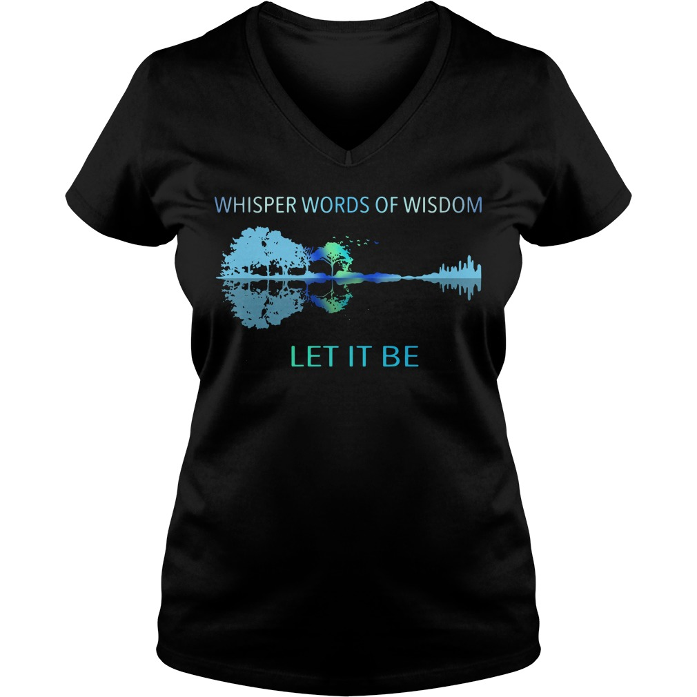 Guitar Whisper words of wisdom let it be V-neck