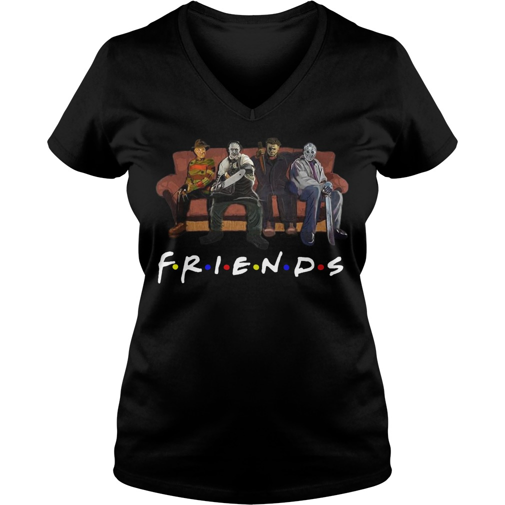 Horror movie Friends V-neck