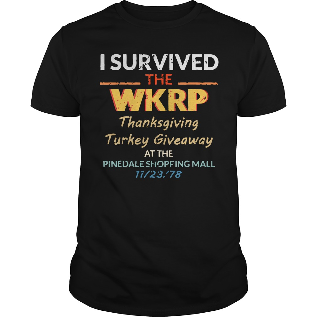 I survived the WKRP thanksgiving Turkey Giveaway at the pinedale shopping mall classic guy