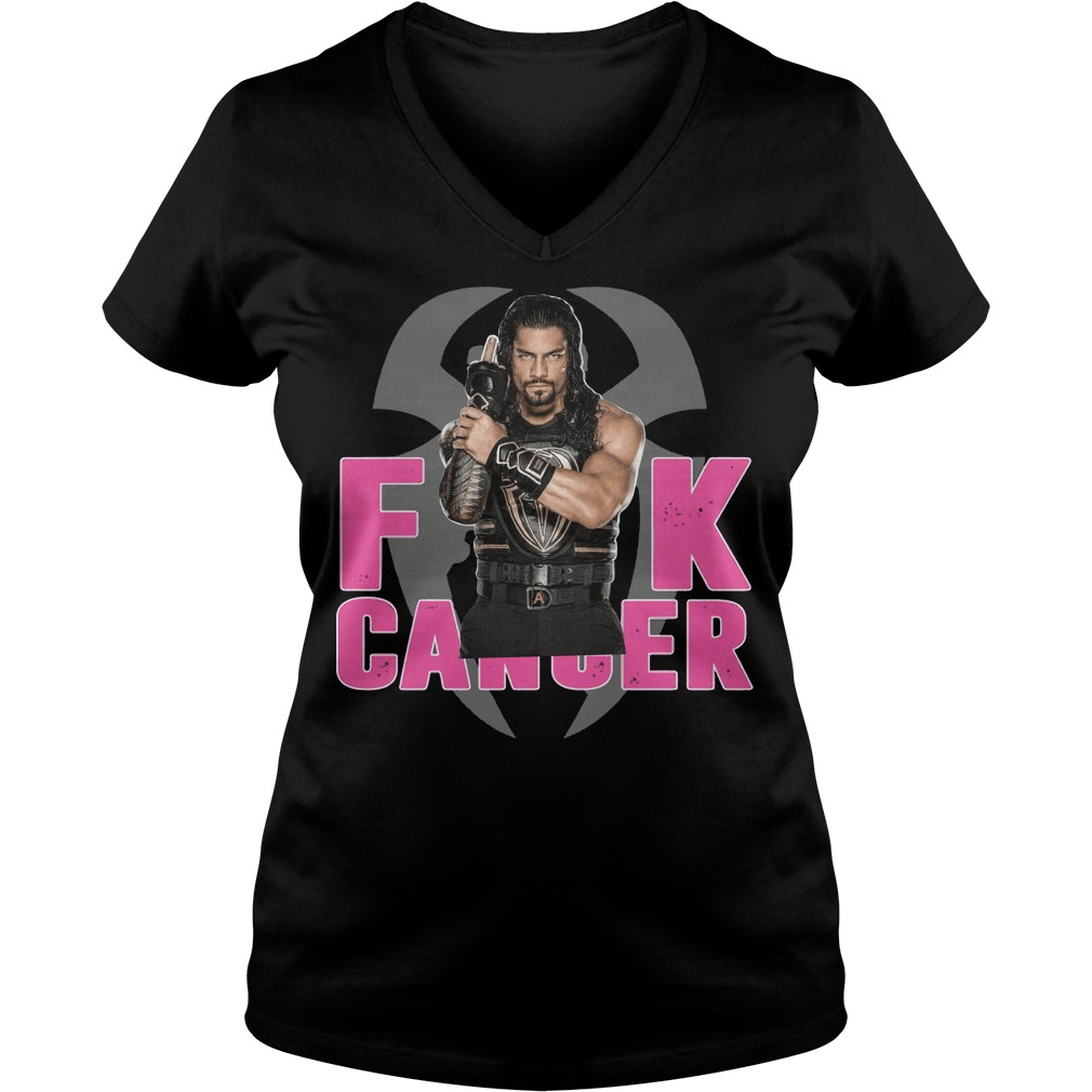 Roman Reigns fuck cancer V-neck
