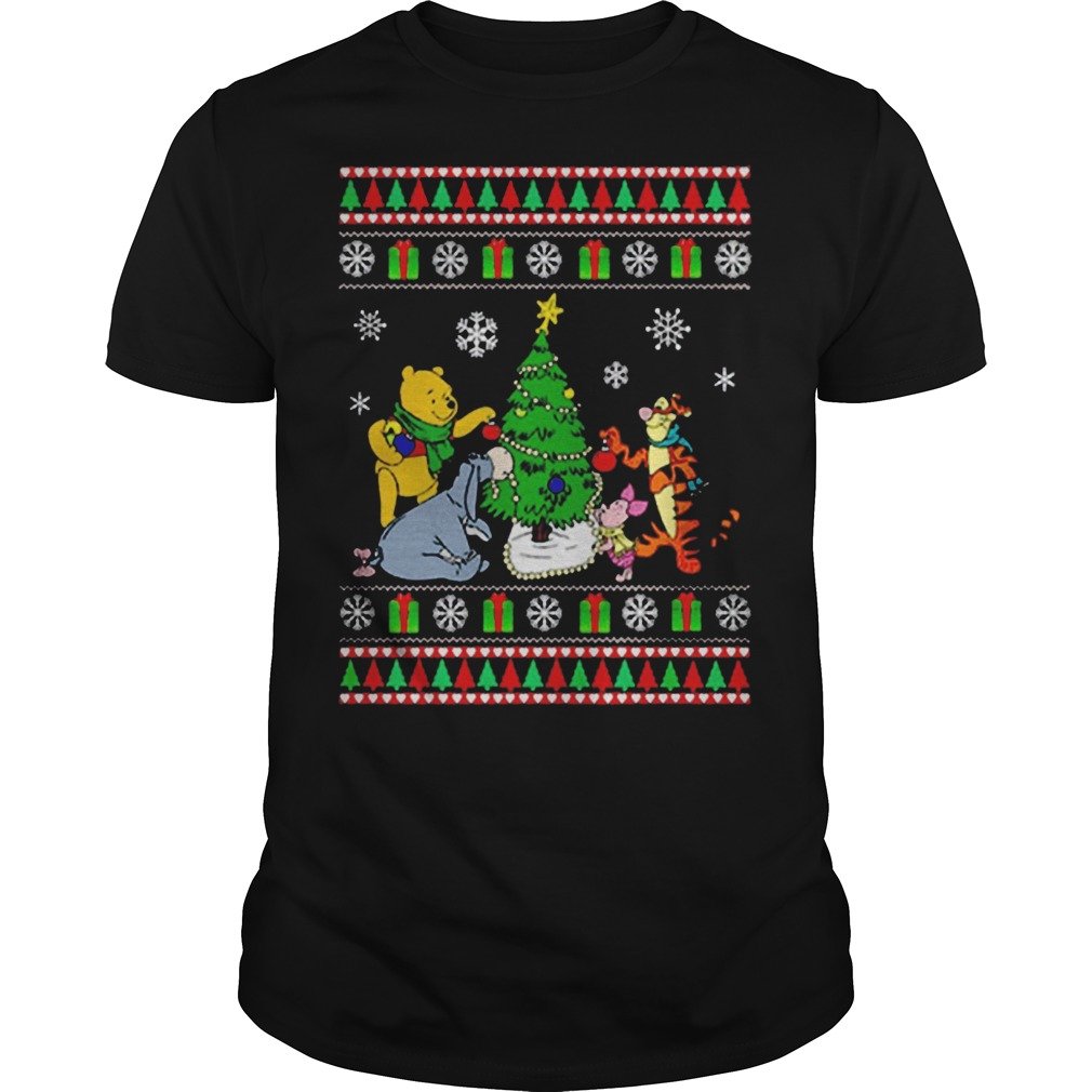 Winnie The Pooh Christmas Tree Ugly Christmas Sweater classic guy