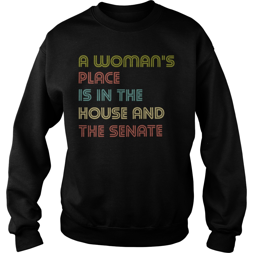 A woman's place is in the house and the senate sweater