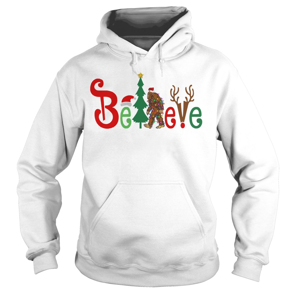 Believe Bigfoot Christmas hoodie