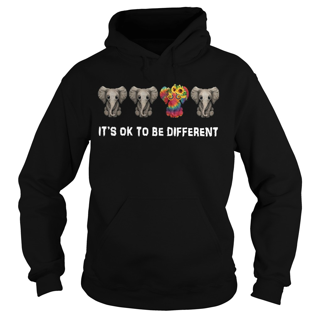 It's ok to be different Hippie Elephant hoodie
