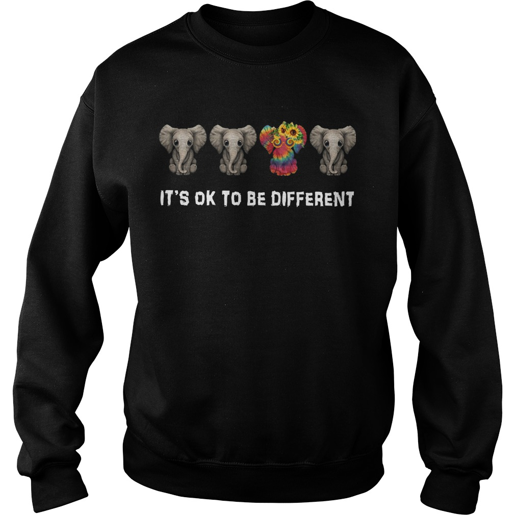 It's ok to be different Hippie Elephant sweater