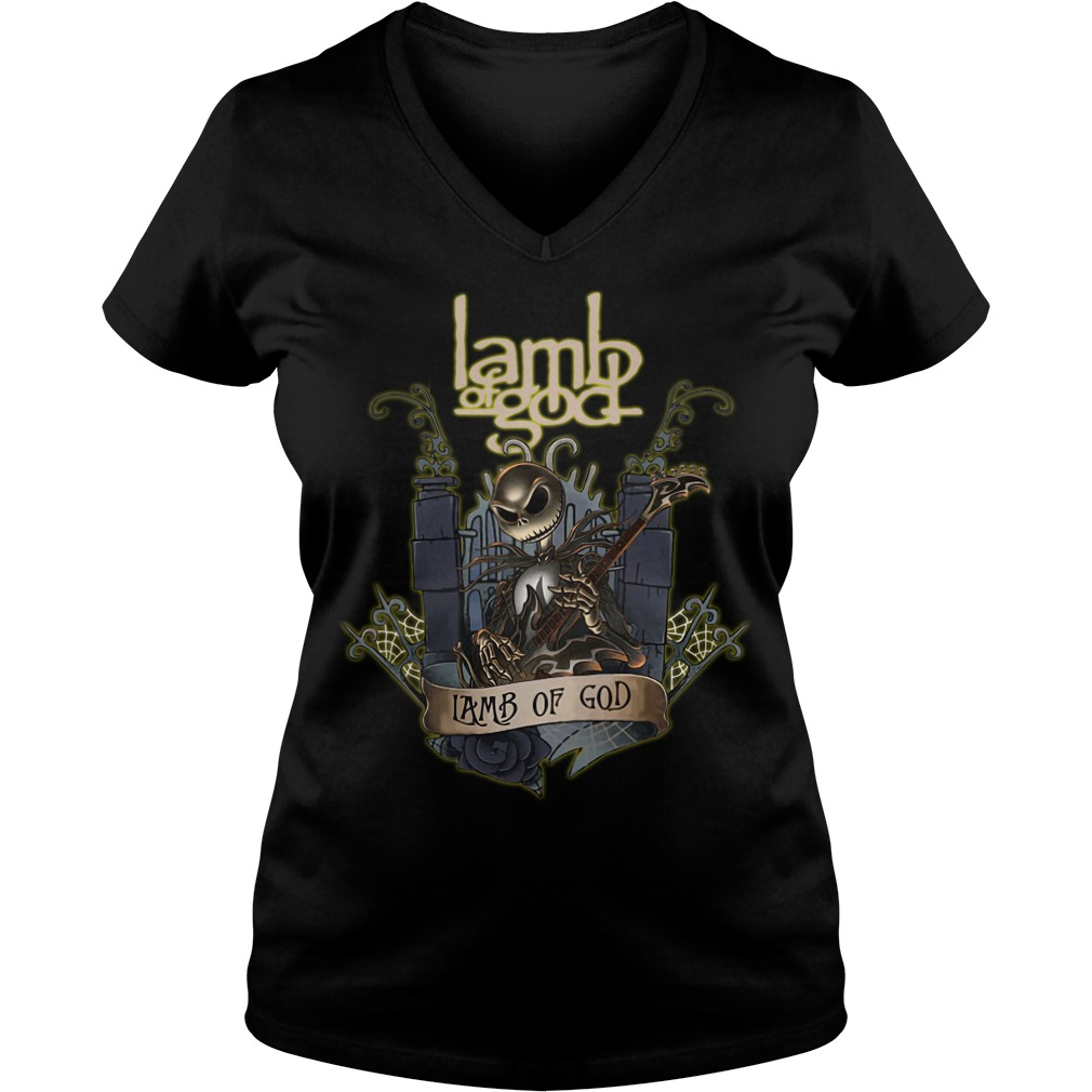 Jack Skellington Lamb of God V-neck