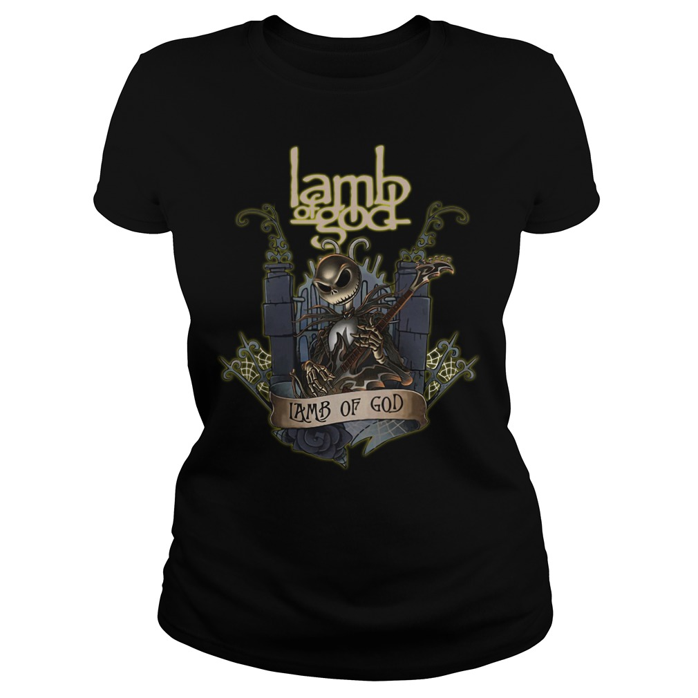 Jack Skellington Lamb of God ladies tee