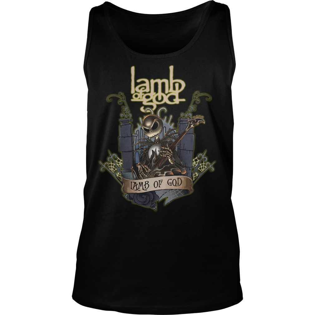 Jack Skellington Lamb of God tank top