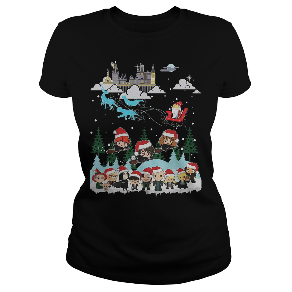 Merry Christmas Hogwarts School ladies tee
