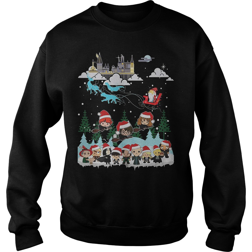 Merry Christmas Hogwarts School sweater