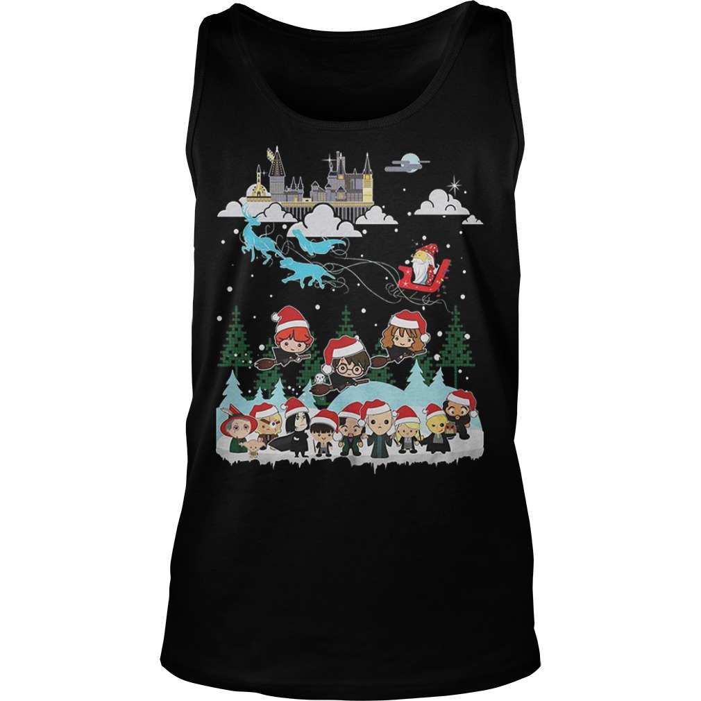 Merry Christmas Hogwarts School tank top