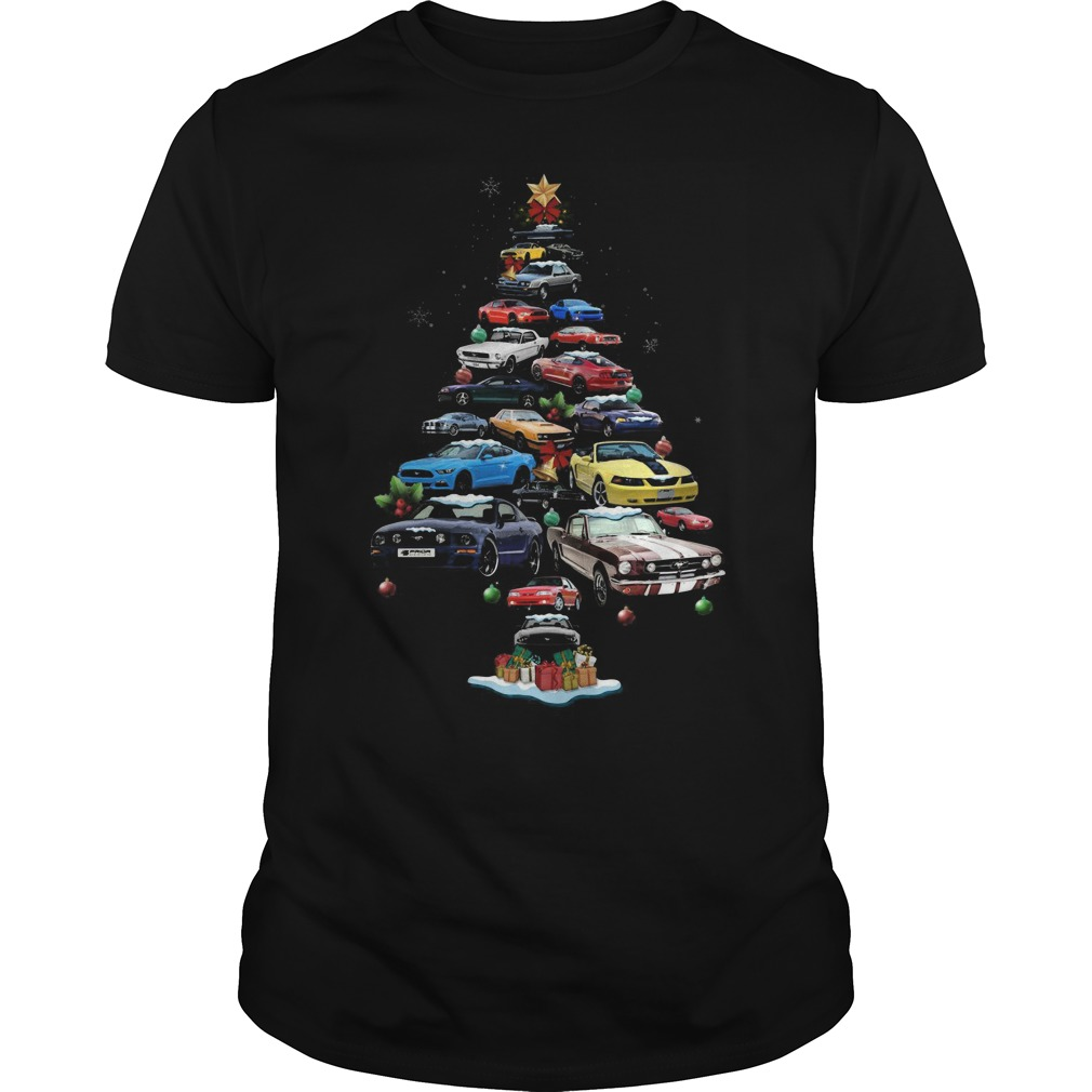 Mustang Cars Tree Christmas classic guy