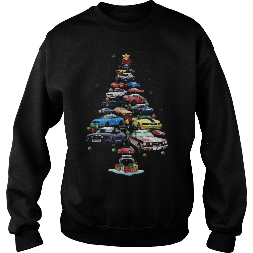 Mustang Cars Tree Christmas sweater