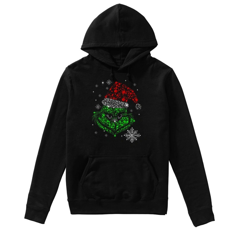 The Grinch Rhinestone Christmas hoodie