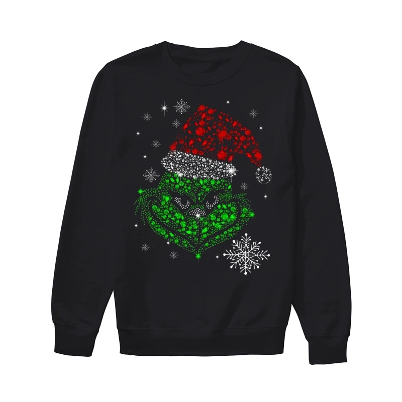 The Grinch Rhinestone Christmas sweater