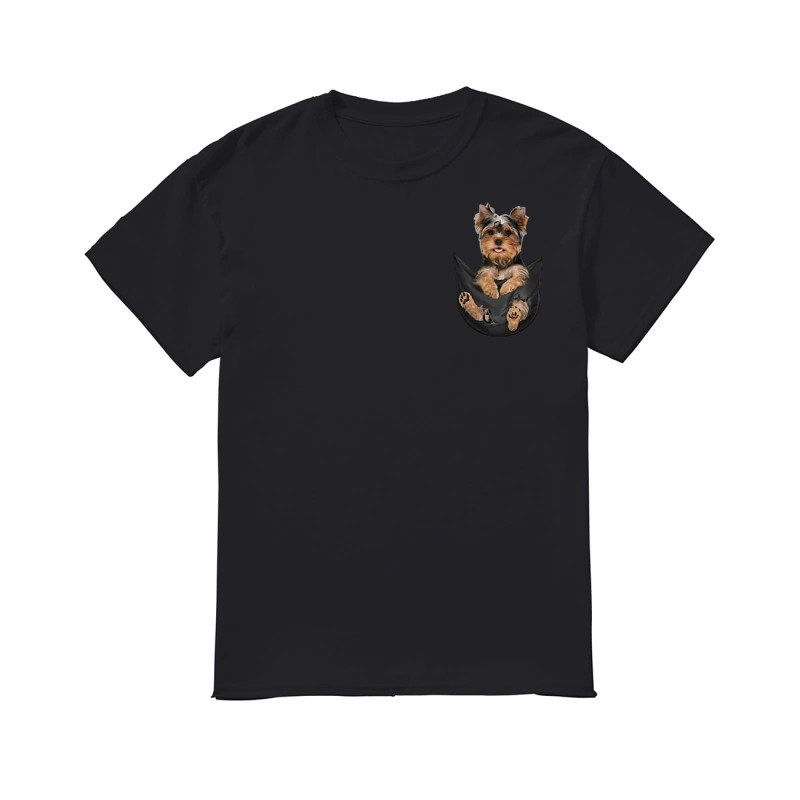 Yorkshire Terrier in a pocket classic men