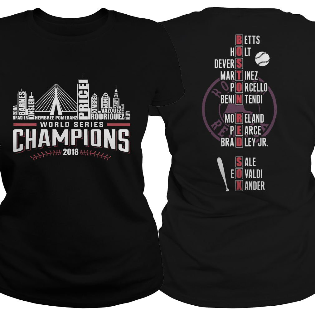Boston Red is world series champions 2018 ladies tee