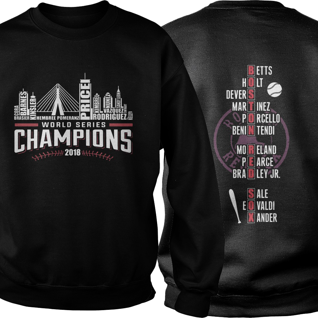 Boston Red is world series champions 2018 sweater