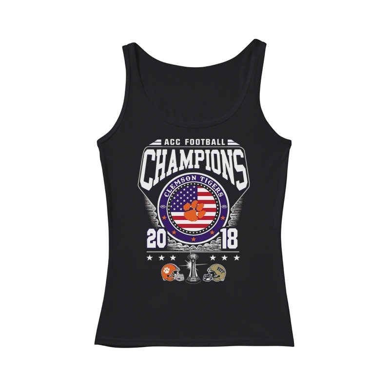 ACC Football Champions Clemson Tigers 2018 tank top