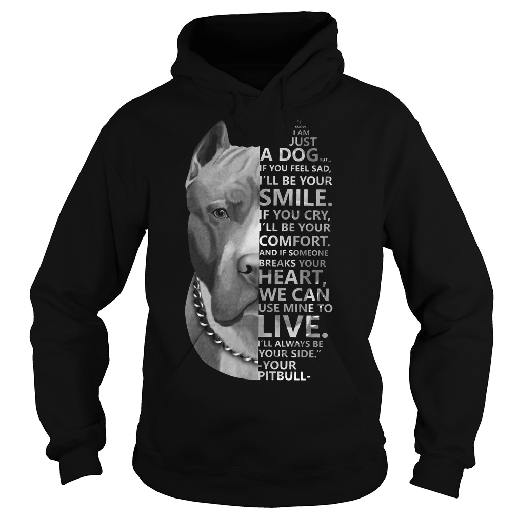 I know I am just a dog but if you feel sad I'll be your smile Pitbull hoodie