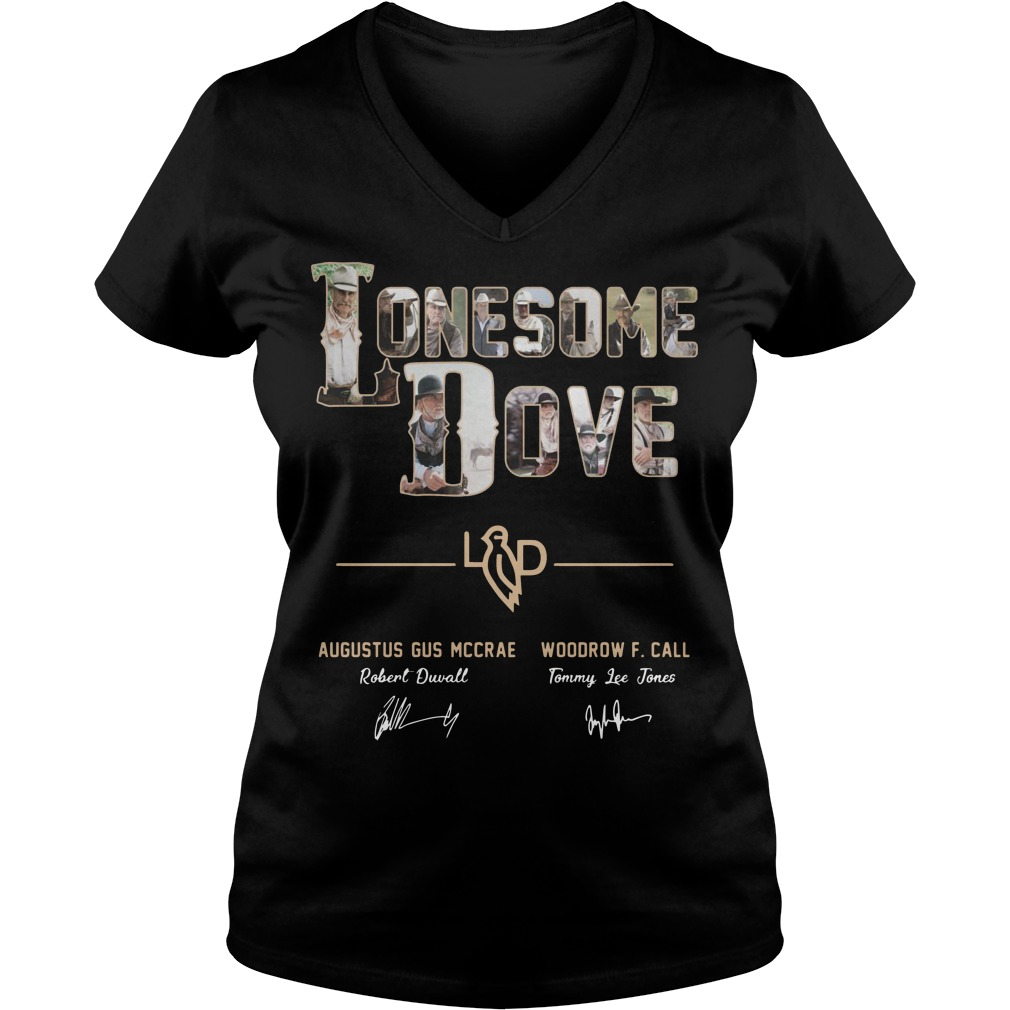 Lonesome Dove Augustus Gus Mccrae Robert Duvall Woodrow Call Tommy Lee Jones Shirt V-neck