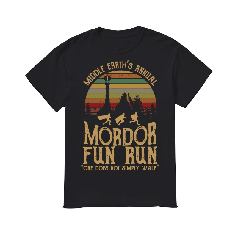 c8c38d09c Middle Earth's annual mordor fun run one does not simply walk classic men