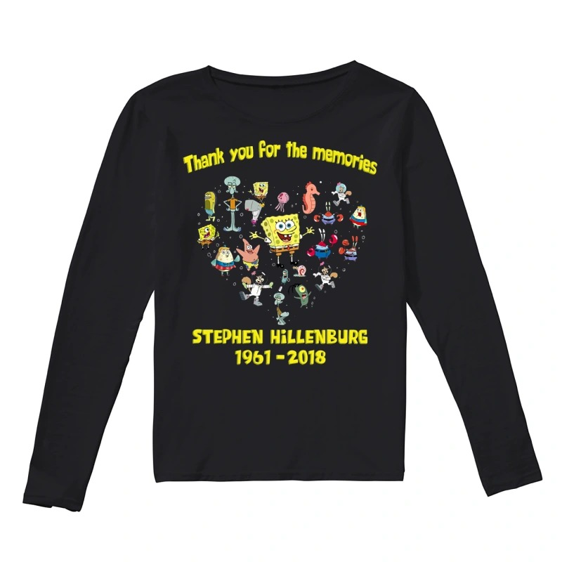 Thank you for the memories Stephen Hillenburg 1961 - 2018 long sleeve