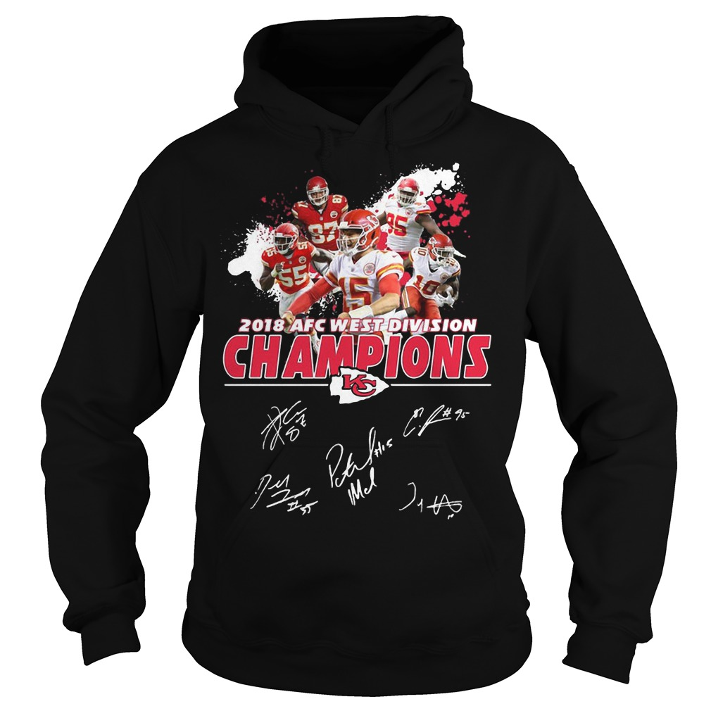 2018 AFC west division Champions Kansas City Chiefs hoodie