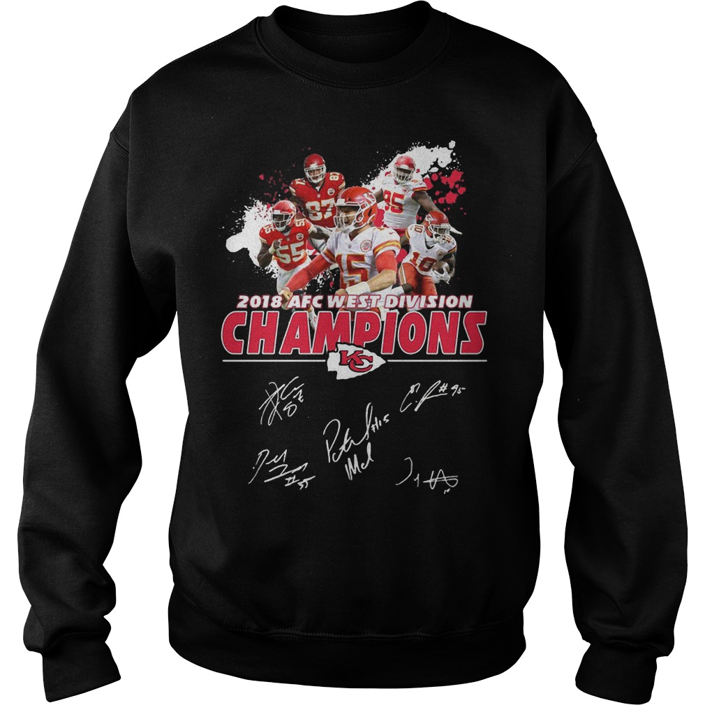 2018 AFC west division Champions Kansas City Chiefs sweater