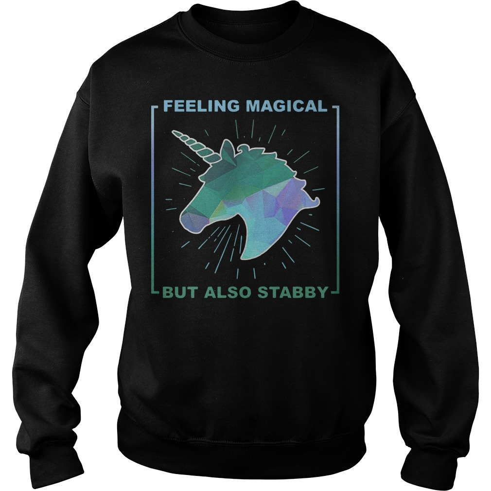 Feeling magical but also stabby Unicorn sweater