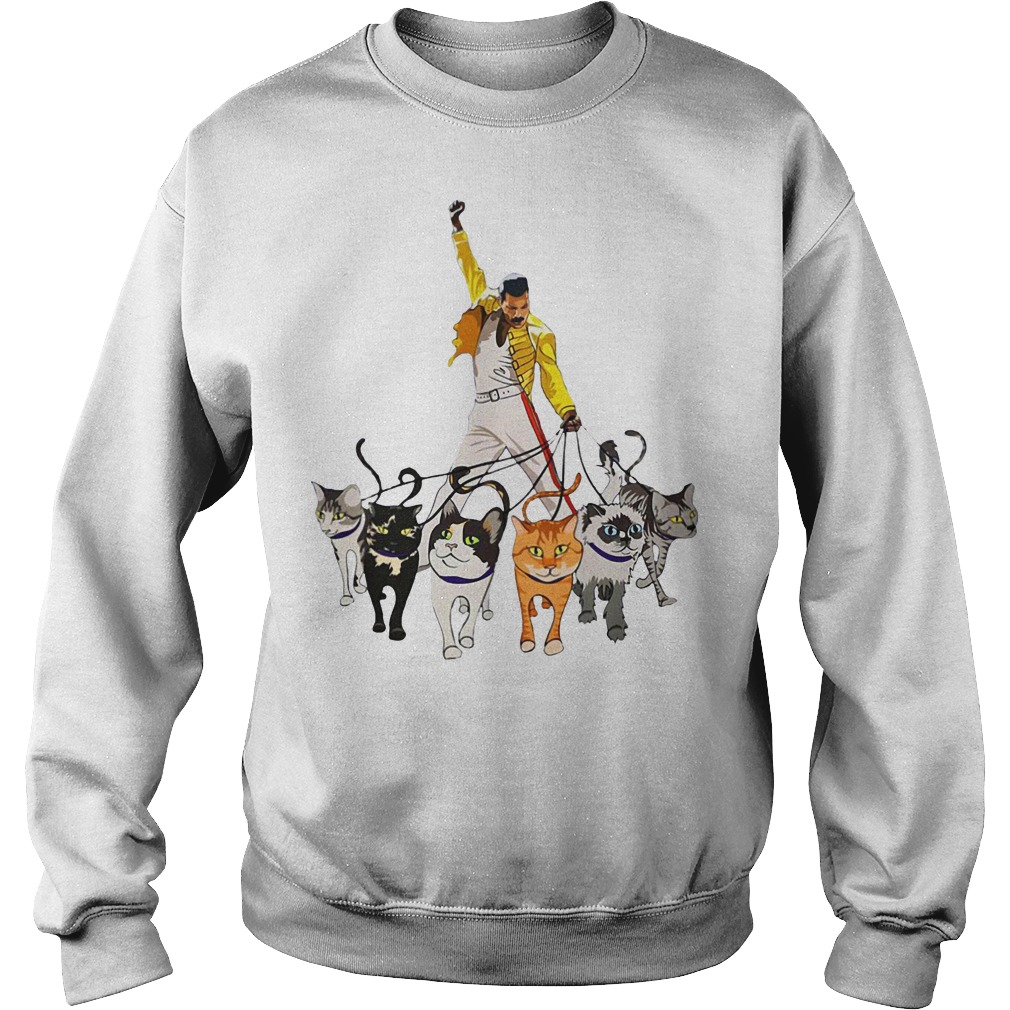 Freddie Mercury and cats sweater