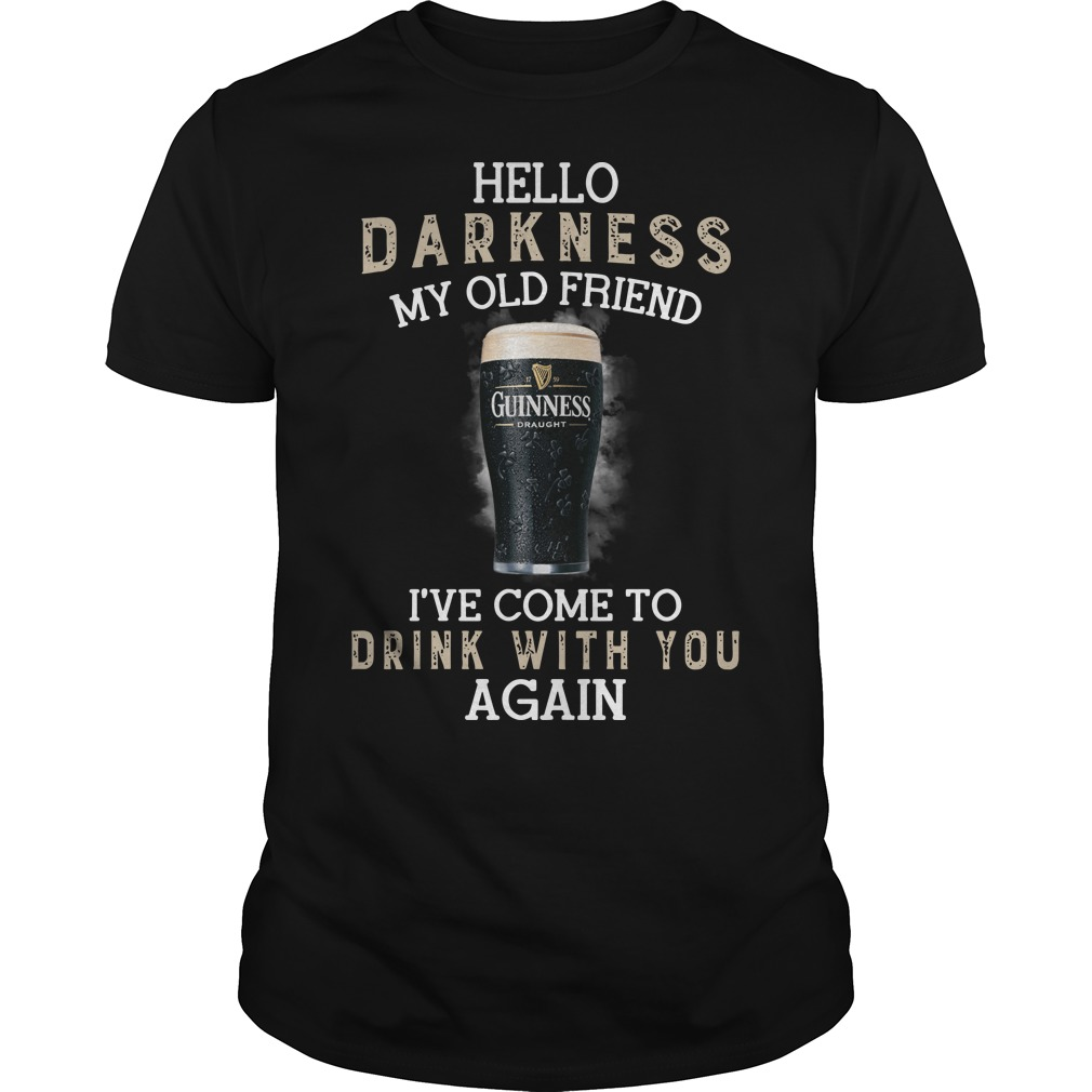 Guinness Draught beer hello darkness my old friend I've come to drink with you again classic men