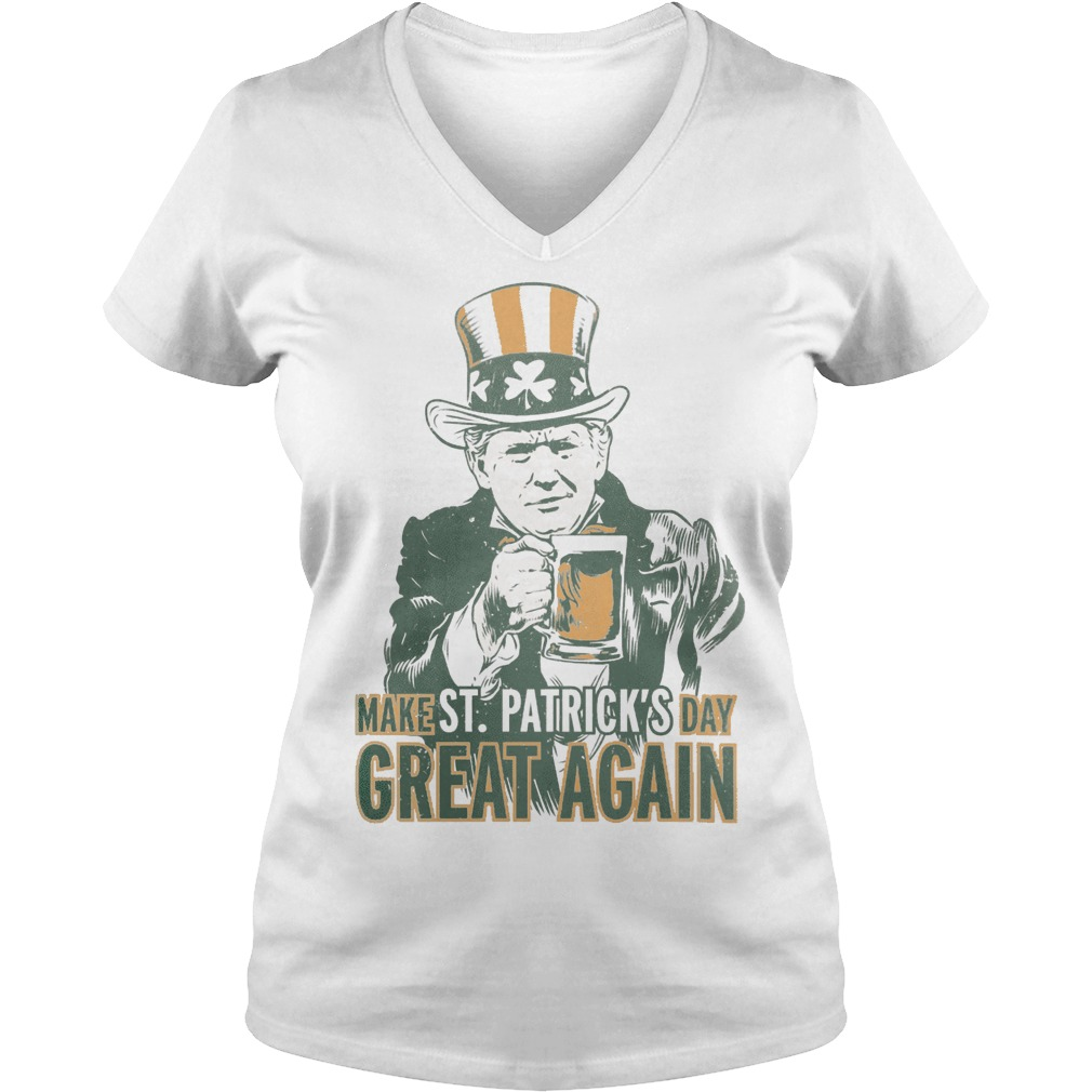 Make St patrick's day great again Trump V-neck