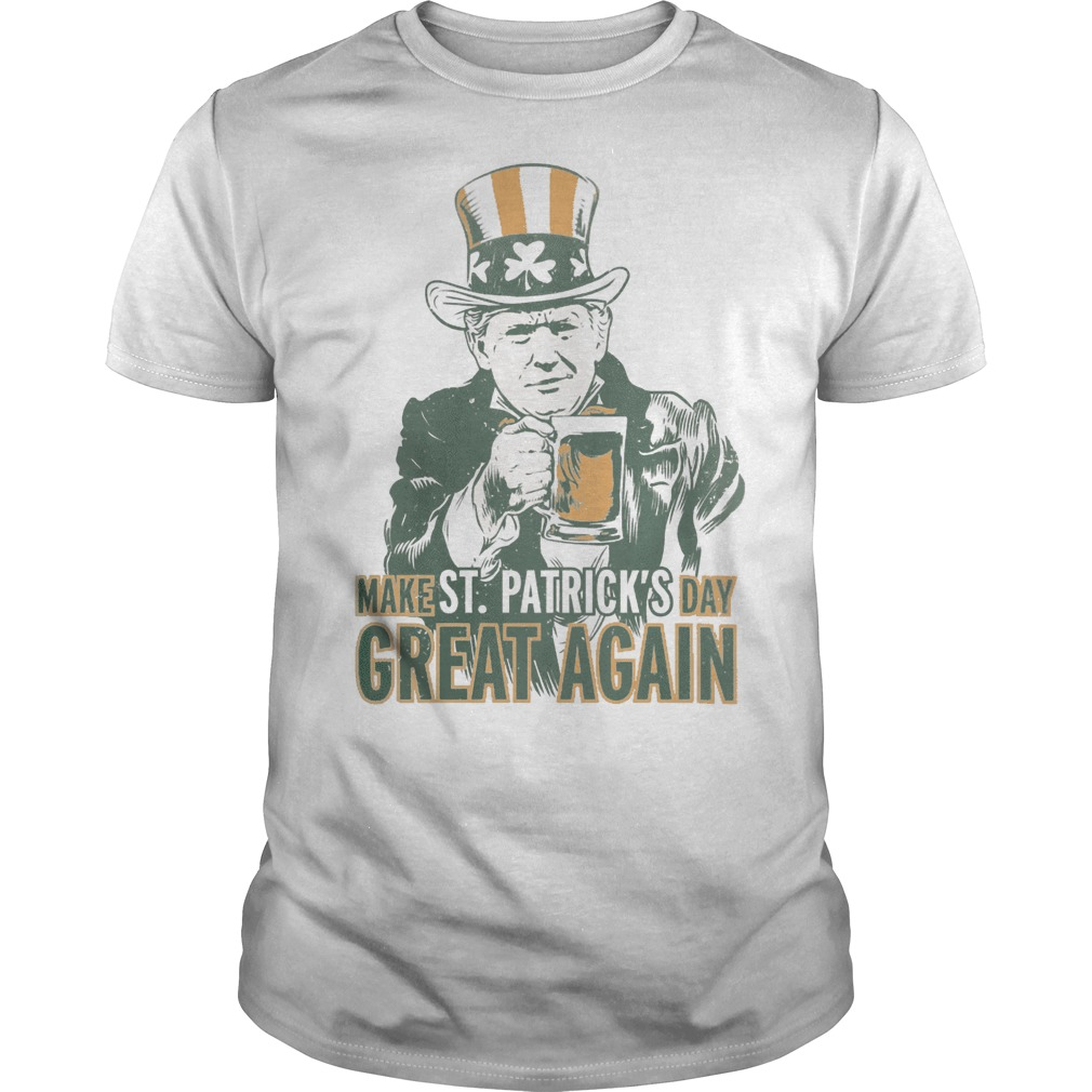 Make St patrick's day great again Trump classic men