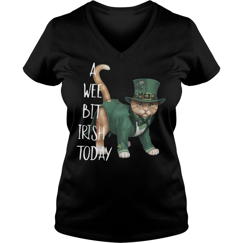 A wee bit Irish today cat V-neck